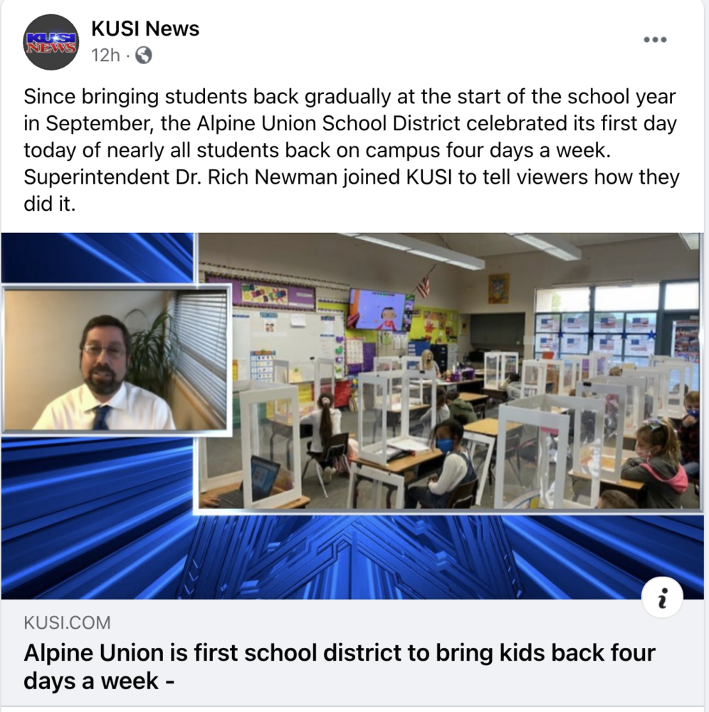 First District to Return to In-Person Learning Four Days a Week
