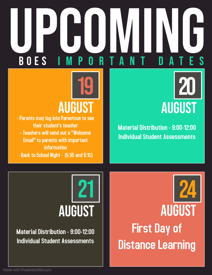 BOES Upcoming Events